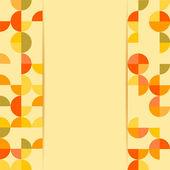 Renkli daireler üzerinde sarı bir ba ile arka plan .pattern — Stok Vektör