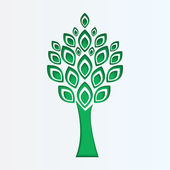 Tree cut from white paper.eco icon.vector — Stock Vector