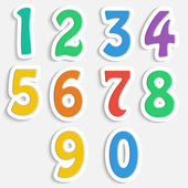 Set of colorful digits.multicolored numbers.vector — Vettoriale Stock