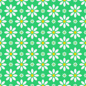 Seamless floral pattern.floral background.white camomiles on a — Stock Vector