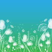 Flowers and butterflies. natural background.floral design.vector — ストックベクタ