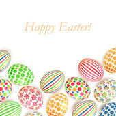 Easter eggs colorful patterns isolated on white background — Stock Vector