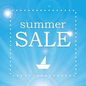 Mevsim yaz satılık — Stok Vektör