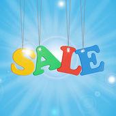Seasonal Summer Sale — Stock Vector