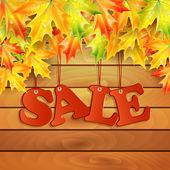 Seasonal autumn sale — Stock Vector