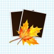 Framework for a photo with place for your image decorated autumn — Stock Vector #50166775