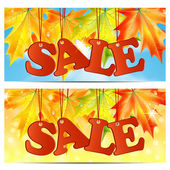Seasonal autumn sale — Stock Vector