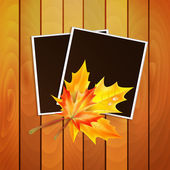 Framework for a photo with place for your image decorated autumn — Stock Vector
