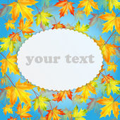 Autumn background with maple leaves and place for your text — Stock Vector