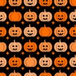 Seamless pattern with pumpkins for Halloween — Stock Vector #50951061