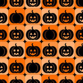Seamless pattern with pumpkins for Halloween — Stock Vector