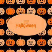 Background with a pattern of pumpkins for Halloween with place f — Stock Vector