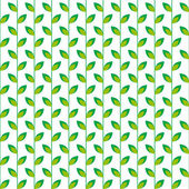 Seamless pattern with  green leaves on a white background — Stock Vector
