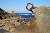 Sculpture in the sea — Stock Photo