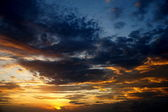 Skies at sunset — Stock Photo