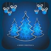 ブルー クリスマス カード — ストックベクタ