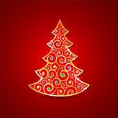 Altın christmas tree — Stok Vektör