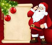 Noel kartı ile — Stok Vektör