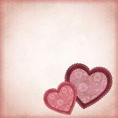 Vackra hjärtan på en vintage bakgrund — Stockvektor