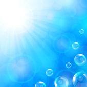 Summer blue background — Vetor de Stock