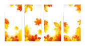 Autumn banners with leaves — Stock Vector