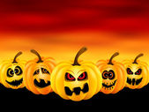 Pumpkins for Halloween — Vector de stock