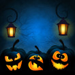 Background to the Halloween with pumpkins — Stock Vector #32200457