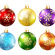 Collection of isolated christmas balls — Stock Vector