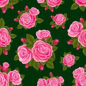Rose seamless — Stock Vector