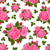 Pink roses pattern — Stock Vector