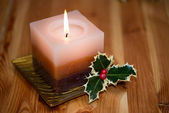 Xmas candle — Stock Photo