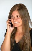 Belleza y teléfonos inteligentes — Foto de Stock