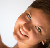 Smiling girl — Stockfoto