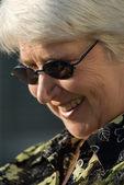 Portrait of elderly woman — Stock Photo