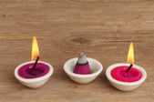 Candles and incense — Stock Photo
