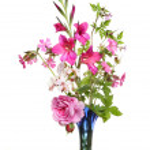 Pink flower arrangement — Stock Photo #13993921