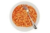 Alphabet spaghetti — Stock Photo
