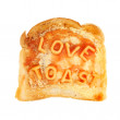 Stock Photo: Love on toast