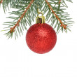 Royalty-Free Stock Photo: Red Christmas bauble