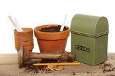 Potting bench — Stock Photo