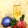 Royalty-Free Stock Photo: CHristmas champagne