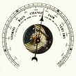 Barometer dial change — Stock Photo