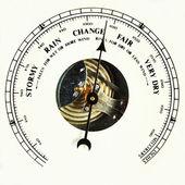 Barometer dial change — Stock Photo