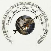 Barometer dial very dry — Stock Photo