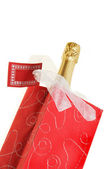 Champagne bottle in bag — Stock Photo