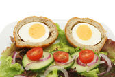 Scotch egg salad closeup — Stock Photo