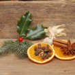 Christmas mulled wine ingredients — Stock Photo