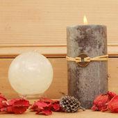 蜡烛和水晶球 — 图库照片
