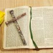 Easter prayer book — Stock Photo