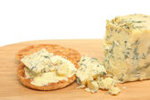 Stilton cheese and biscuits — Stock Photo